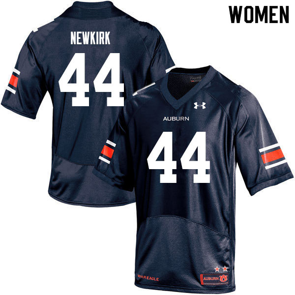 Women #44 Daquan Newkirk Auburn Tigers College Football Jerseys Sale-Navy