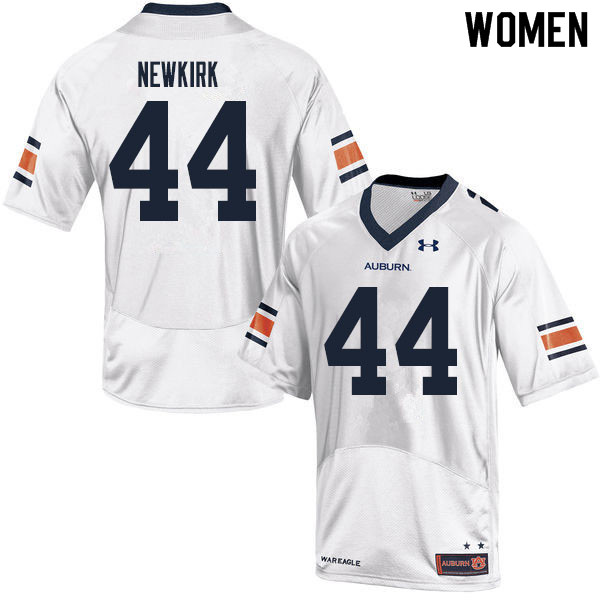 Women #44 Daquan Newkirk Auburn Tigers College Football Jerseys Sale-White