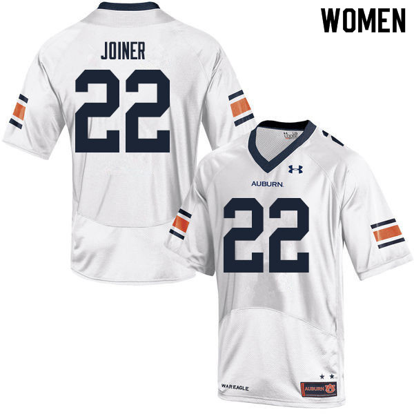 Women #22 Harold Joiner Auburn Tigers College Football Jerseys Sale-White