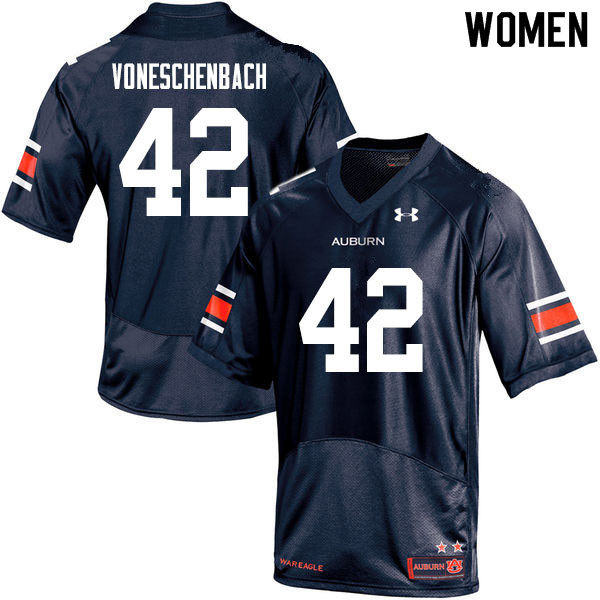 Women #42 Jacob vonEschenbach Auburn Tigers College Football Jerseys Sale-Navy