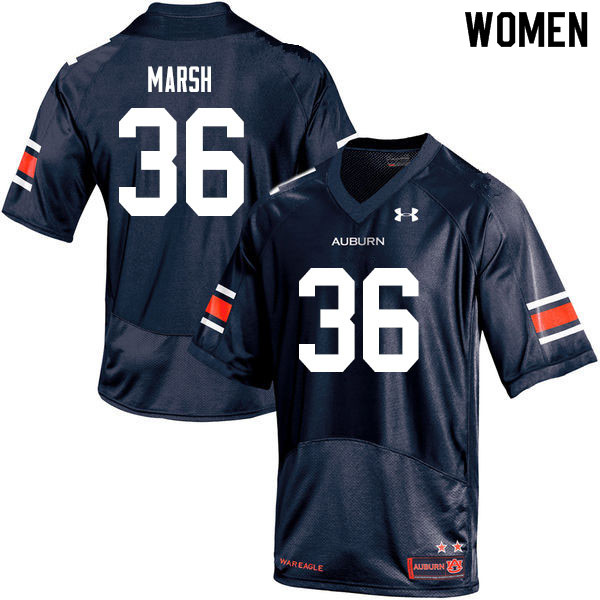 Women #36 Josh Marsh Auburn Tigers College Football Jerseys Sale-Navy