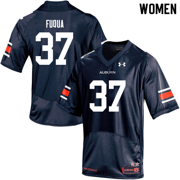 Women #37 Kolbi Fuqua Auburn Tigers College Football Jerseys Sale-Navy