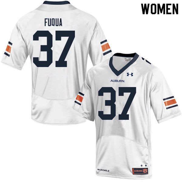 Women #37 Kolbi Fuqua Auburn Tigers College Football Jerseys Sale-White