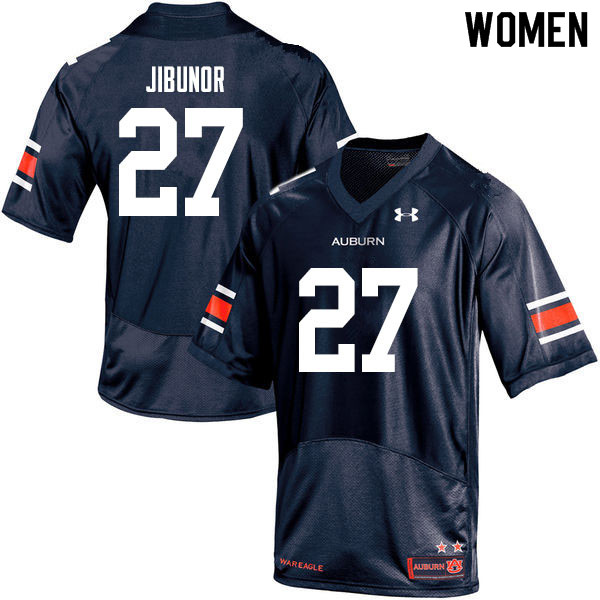 Women #27 Richard Jibunor Auburn Tigers College Football Jerseys Sale-Navy