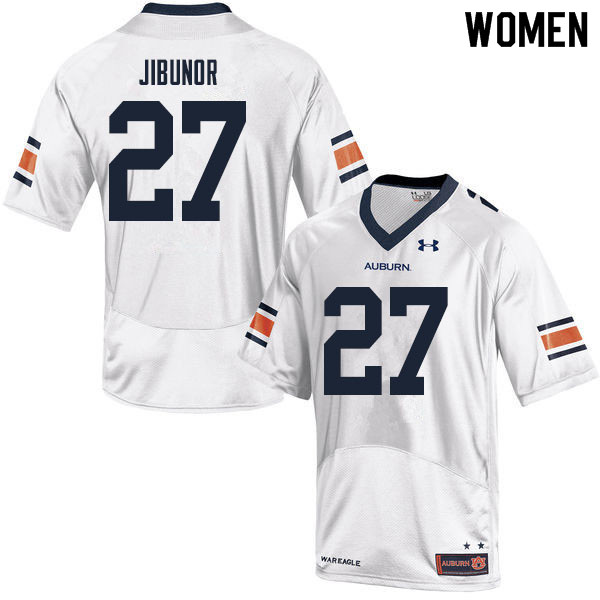 Women #27 Richard Jibunor Auburn Tigers College Football Jerseys Sale-White