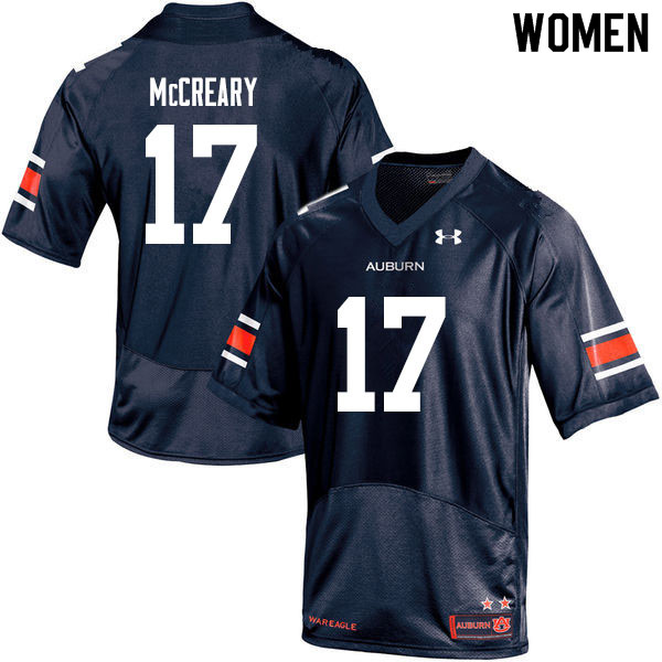 Women #17 Roger McCreary Auburn Tigers College Football Jerseys Sale-Navy