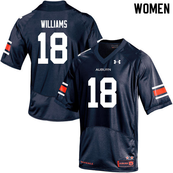 Women #18 Seth Williams Auburn Tigers College Football Jerseys Sale-Navy