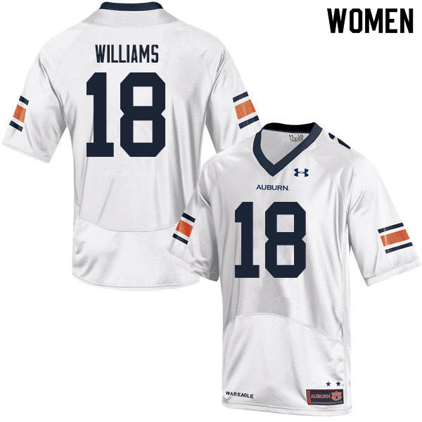 Women #18 Seth Williams Auburn Tigers College Football Jerseys Sale-White