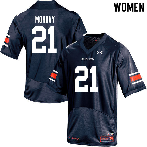 Women #21 Smoke Monday Auburn Tigers College Football Jerseys Sale-Navy