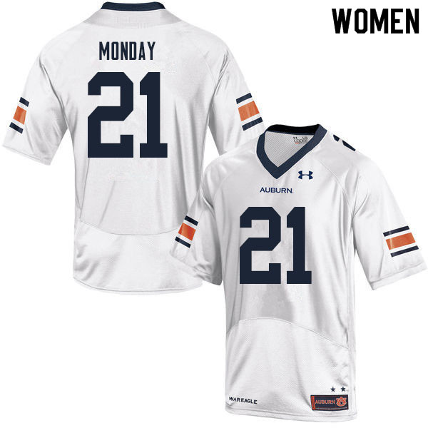 Women #21 Smoke Monday Auburn Tigers College Football Jerseys Sale-White