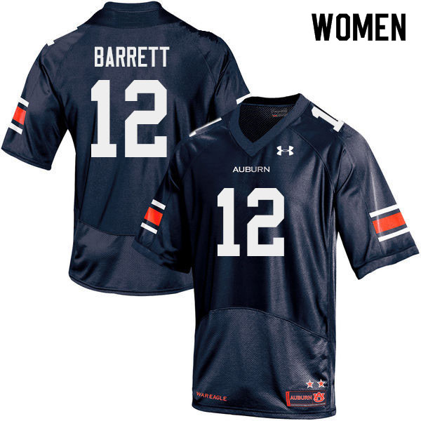 Women #12 Devan Barrett Auburn Tigers College Football Jerseys Sale-Navy