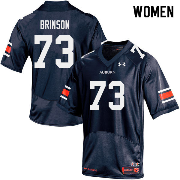 Women #73 Gabe Brinson Auburn Tigers College Football Jerseys Sale-Navy