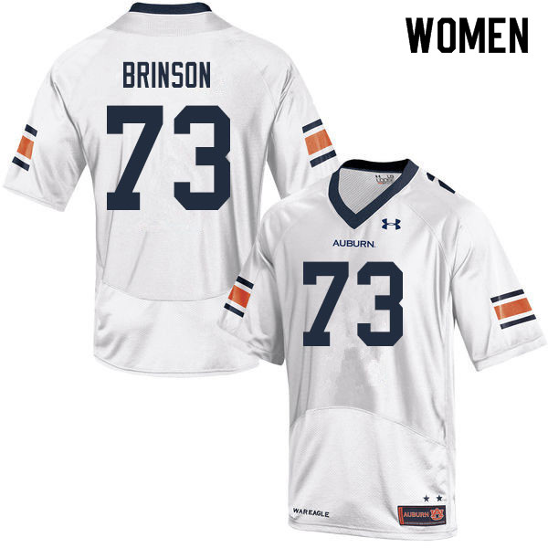 Women #73 Gabe Brinson Auburn Tigers College Football Jerseys Sale-White