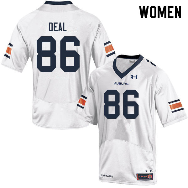 Women #86 Luke Deal Auburn Tigers College Football Jerseys Sale-White
