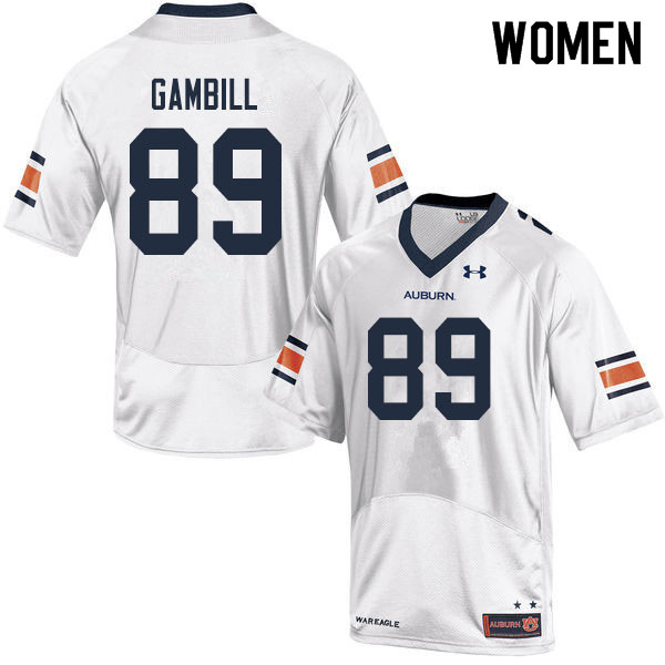 Women #89 Phelps Gambill Auburn Tigers College Football Jerseys Sale-White