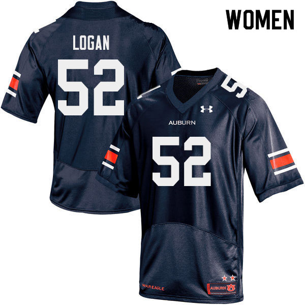 Women #52 Russ Logan Auburn Tigers College Football Jerseys Sale-Navy