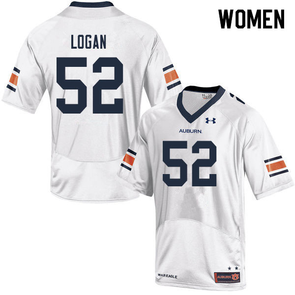 Women #52 Russ Logan Auburn Tigers College Football Jerseys Sale-White