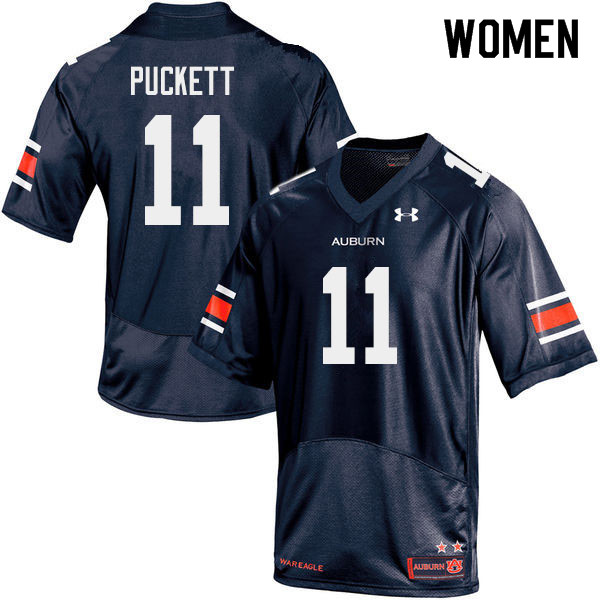 Women #11 Zion Puckett Auburn Tigers College Football Jerseys Sale-Navy