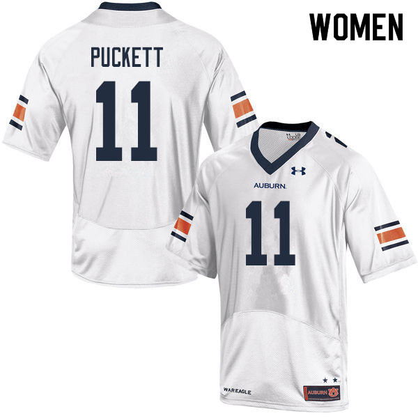 Women #11 Zion Puckett Auburn Tigers College Football Jerseys Sale-White