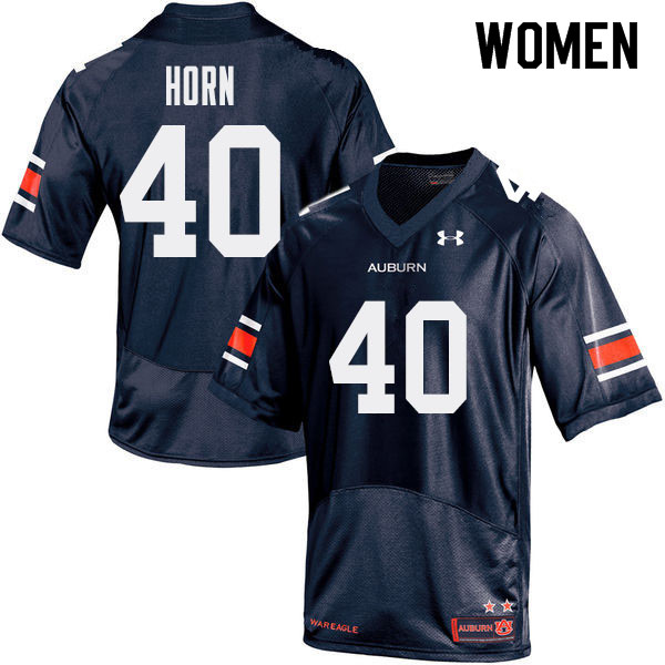 Women Auburn Tigers #40 Beau Horn College Football Jerseys Sale-Navy