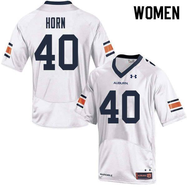 Women Auburn Tigers #40 Beau Horn College Football Jerseys Sale-White