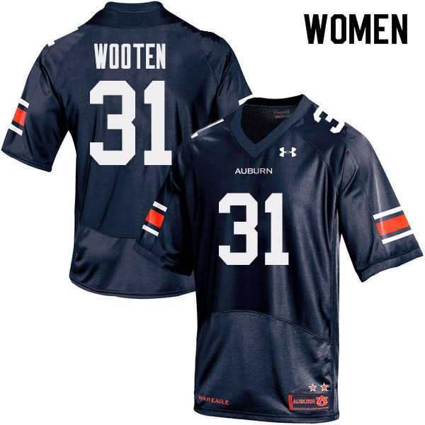 Women Auburn Tigers #31 Chandler Wooten College Football Jerseys Sale-Navy