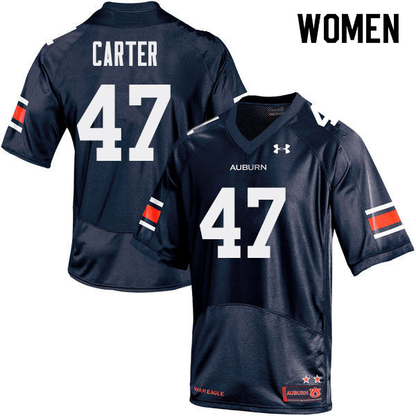 Women Auburn Tigers #47 Craig Carter College Football Jerseys Sale-Navy
