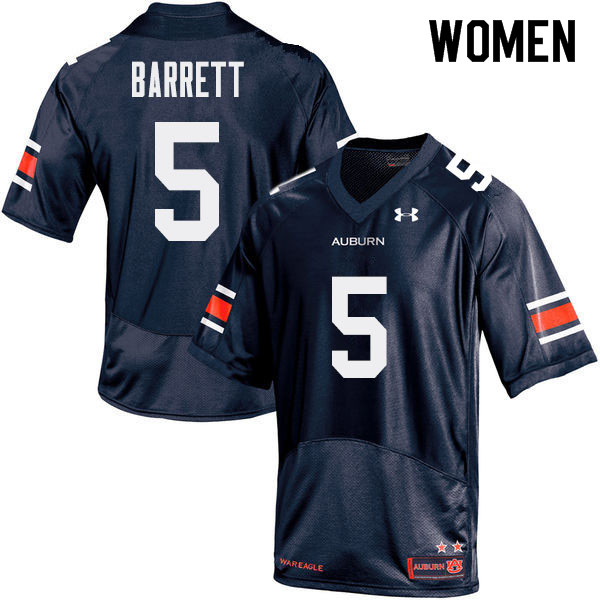 Women Auburn Tigers #5 Devan Barrett College Football Jerseys Sale-Navy