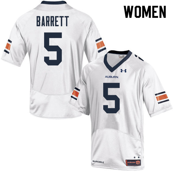 Women Auburn Tigers #5 Devan Barrett College Football Jerseys Sale-White