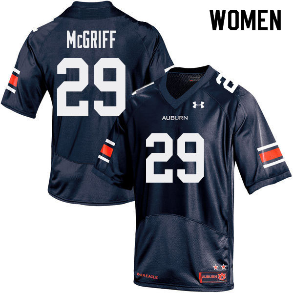 Women Auburn Tigers #29 Jaylen McGriff College Football Jerseys Sale-Navy