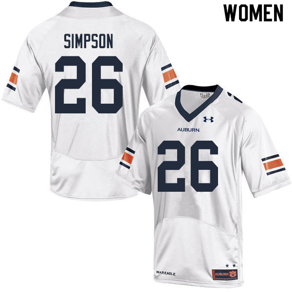Women #26 Jaylin Simpson Auburn Tigers College Football Jerseys Sale-White