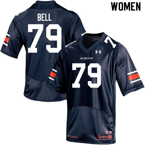 Women #79 Kamaar Bell Auburn Tigers College Football Jerseys Sale-Navy
