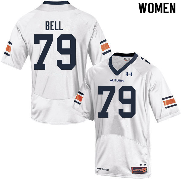 Women #79 Kamaar Bell Auburn Tigers College Football Jerseys Sale-White