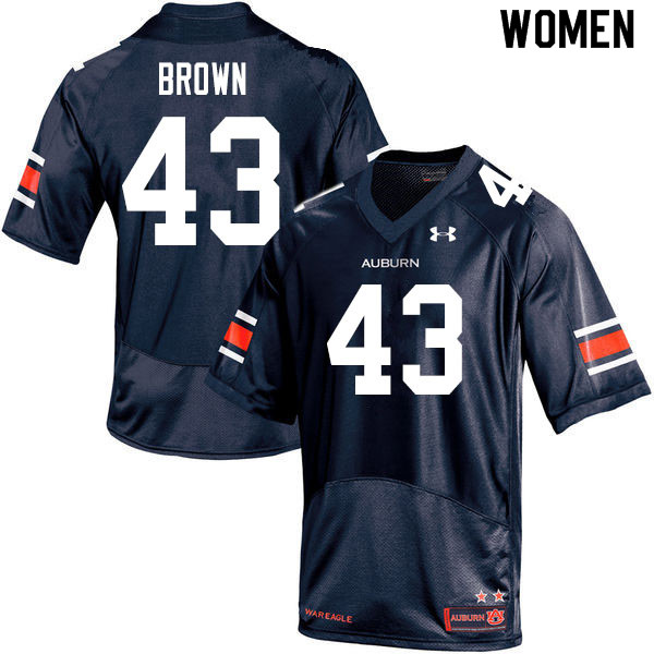 Women #43 Kameron Brown Auburn Tigers College Football Jerseys Sale-Navy