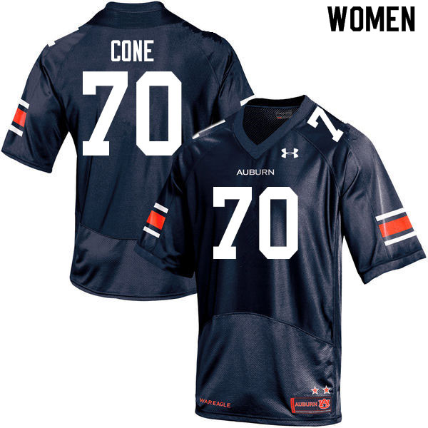 Women #70 Michael Cone Auburn Tigers College Football Jerseys Sale-Navy