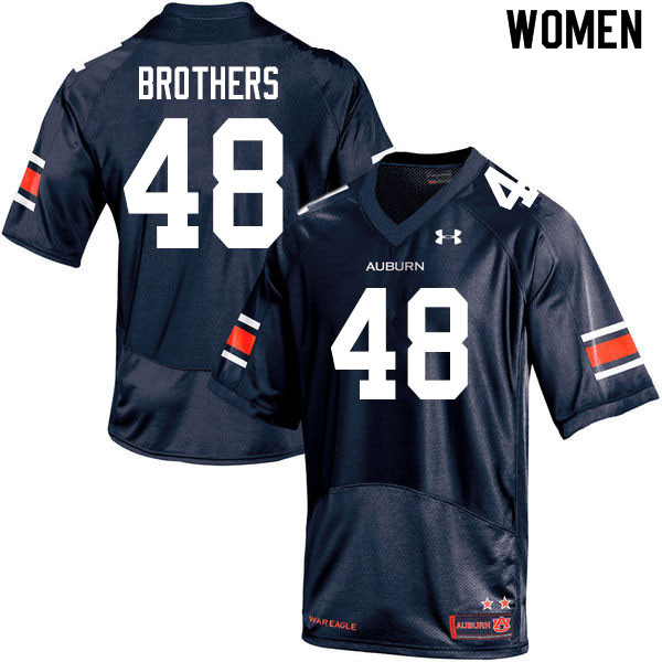 Women #48 O.C. Brothers Auburn Tigers College Football Jerseys Sale-Navy