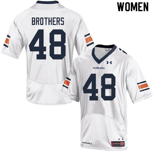 Women #48 O.C. Brothers Auburn Tigers College Football Jerseys Sale-White