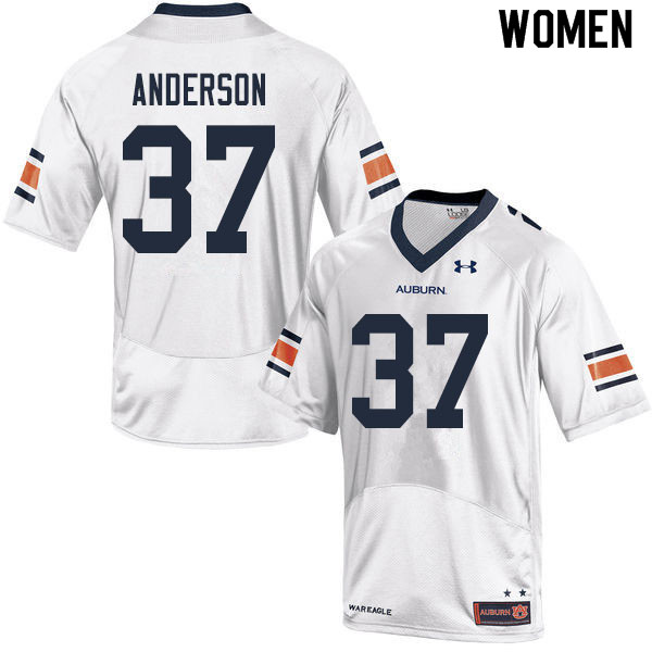 Women #37 Payton Anderson Auburn Tigers College Football Jerseys Sale-White
