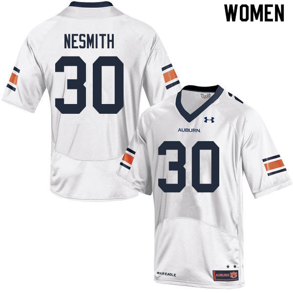Women #30 Tommy Nesmith Auburn Tigers College Football Jerseys Sale-White