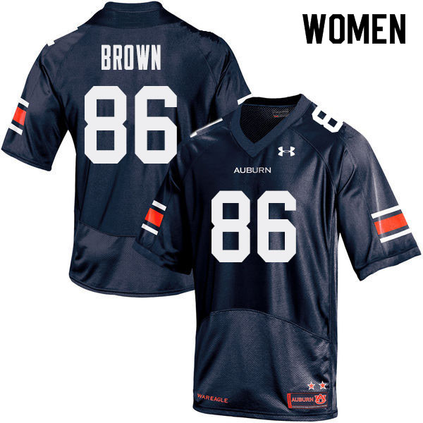 Women Auburn Tigers #86 Tucker Brown College Football Jerseys Sale-Navy