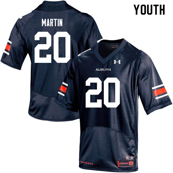 Youth #20 Asa Martin Auburn Tigers College Football Jerseys Sale-Navy