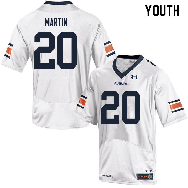 Youth #20 Asa Martin Auburn Tigers College Football Jerseys Sale-White