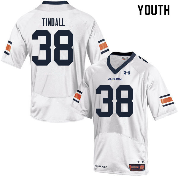 Youth #38 Barrett Tindall Auburn Tigers College Football Jerseys Sale-White
