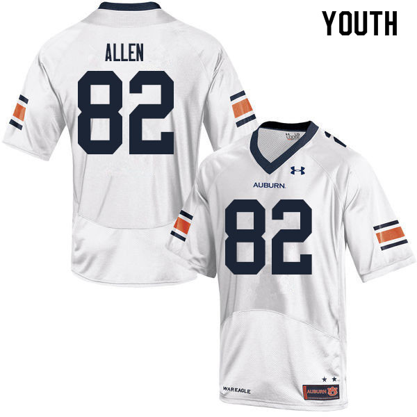 Youth #82 Chad Allen Auburn Tigers College Football Jerseys Sale-White