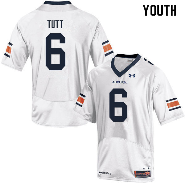 Youth #6 Christian Tutt Auburn Tigers College Football Jerseys Sale-White