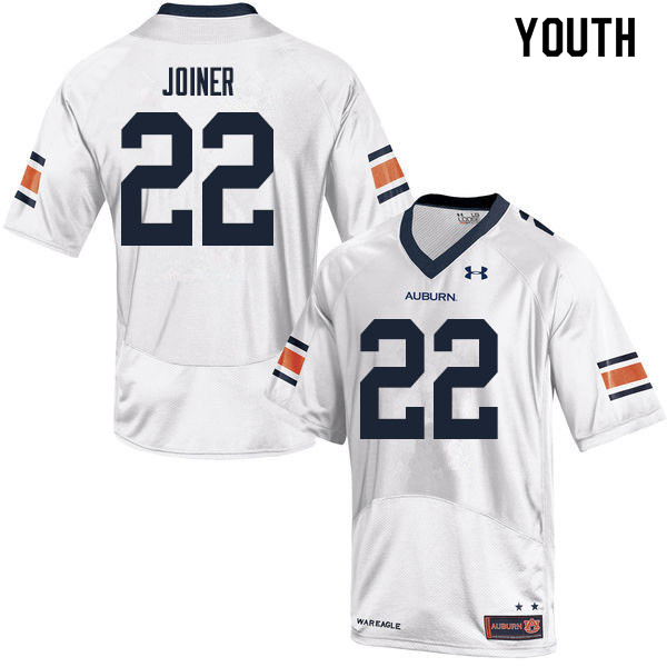 Youth #22 Harold Joiner Auburn Tigers College Football Jerseys Sale-White