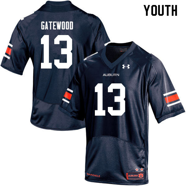 Youth #13 Joey Gatewood Auburn Tigers College Football Jerseys Sale-Navy