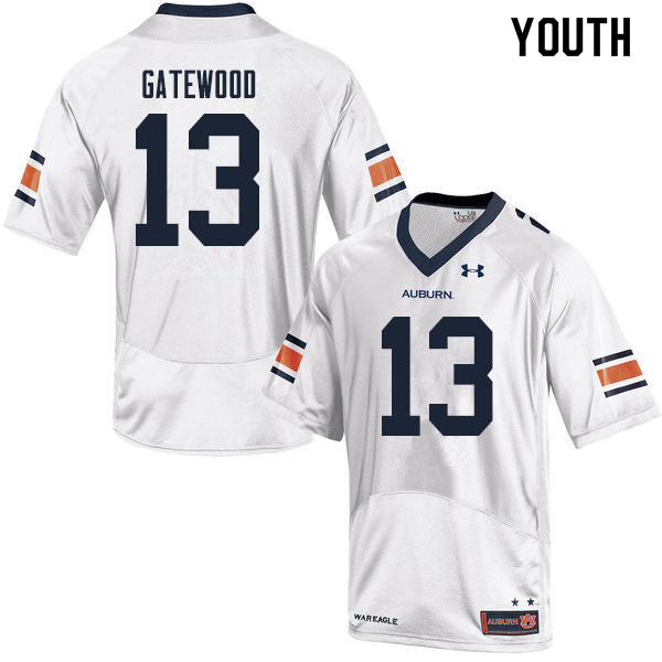 Youth #13 Joey Gatewood Auburn Tigers College Football Jerseys Sale-White
