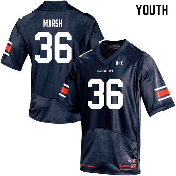Youth #36 Josh Marsh Auburn Tigers College Football Jerseys Sale-Navy