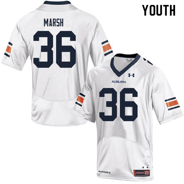 Youth #36 Josh Marsh Auburn Tigers College Football Jerseys Sale-White